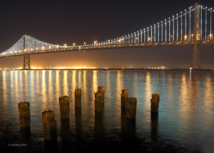 "TU731: ""San Francisco: Bay Bridge at night"""