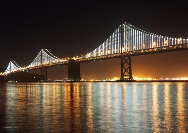 "TU732: ""San Francisco: Bay Bridge at night"""