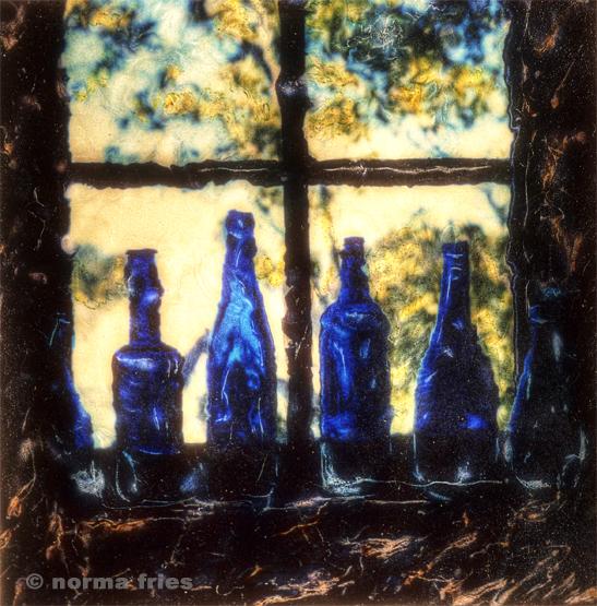 "PL851: ""Four blue bottles"""