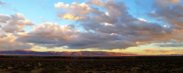 "LN922: ""New Mexico sunset (panoramic"""