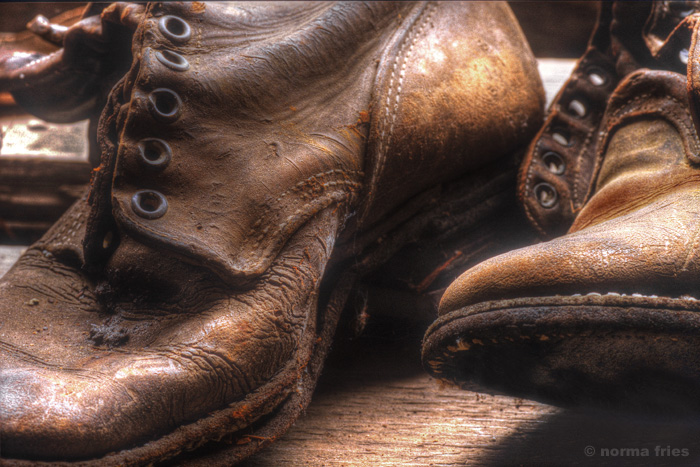 "XX1000: ""Old boots at a Western ghost town"""