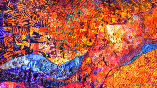 "XX1022: ""Quilt detail - River"""