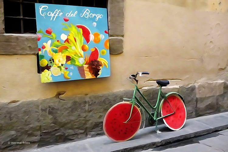 "IT304: ""Italy: Watermelon bike"""