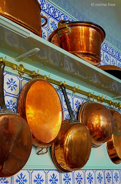 FR407-Giverny, France: Monet's copper pots & pans