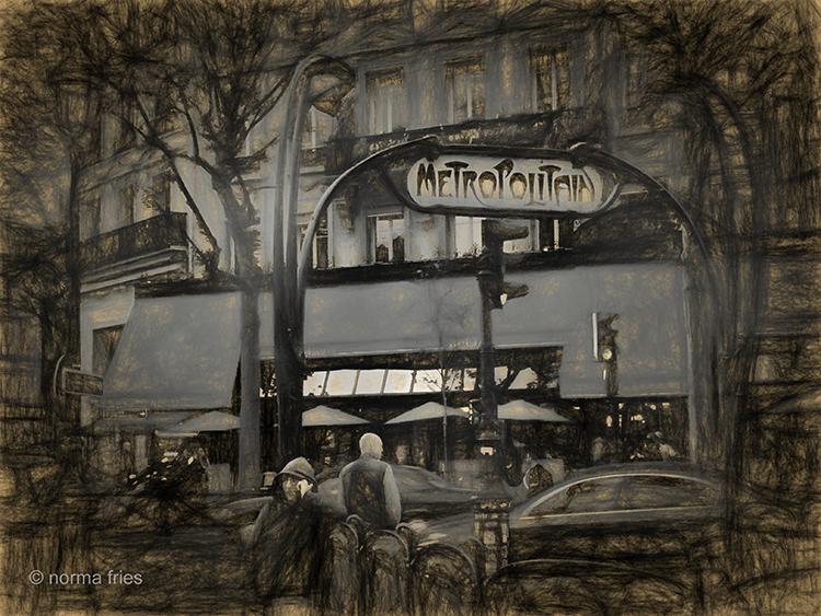 FR424: Paris - Metro sketch