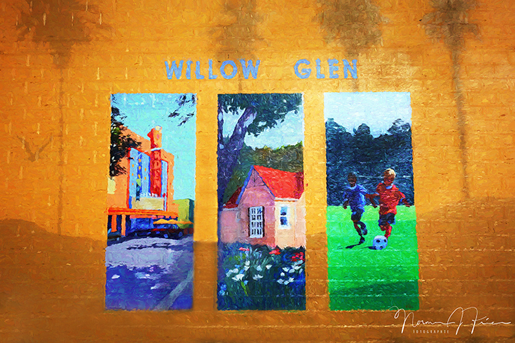 WG611: Willow Glen mural