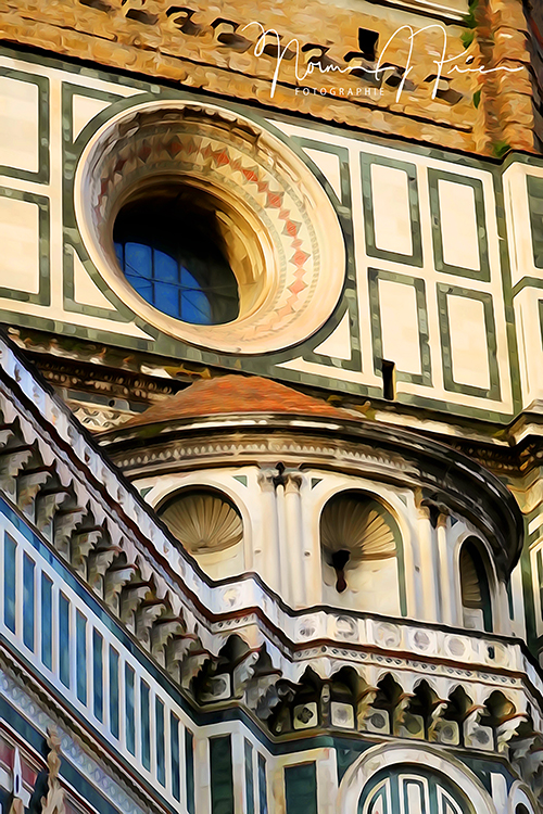 ITL320: Florence, Italy - Detail of Duomo