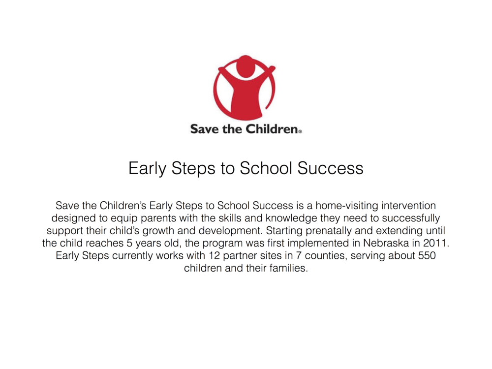 Click here to learn more about Early Steps to Schools Success