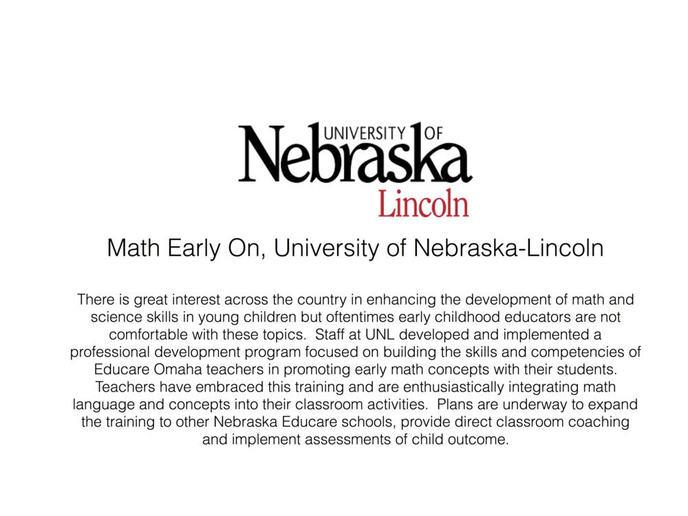 Click here to learn more about Math Early On.