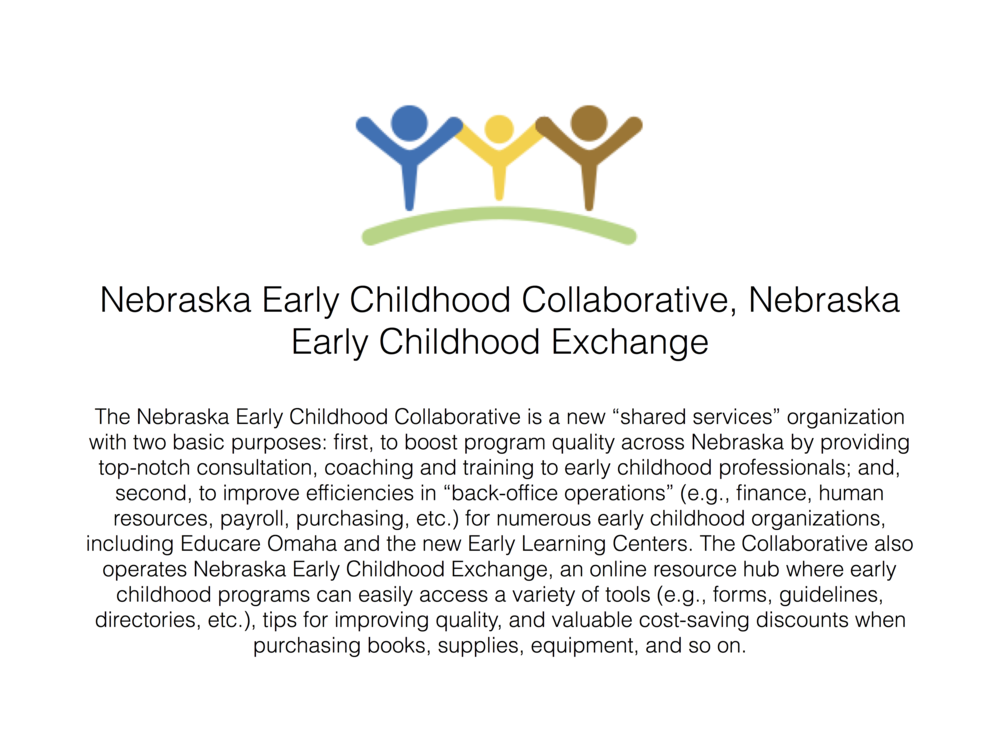 Click here to learn more about the Nebraska Early Childhood Exchange.