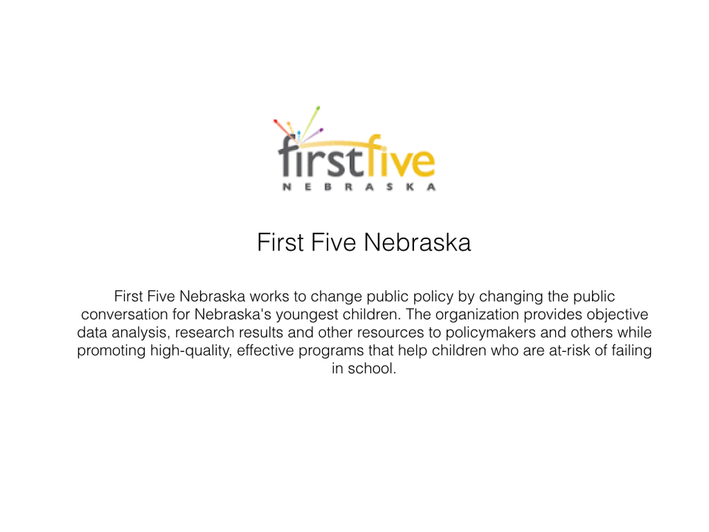 Click here to learn more about First Five Nebraska.