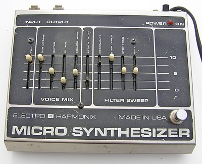 vintage electro harmonix micro synthesizer pedals and effects. Black Bedroom Furniture Sets. Home Design Ideas