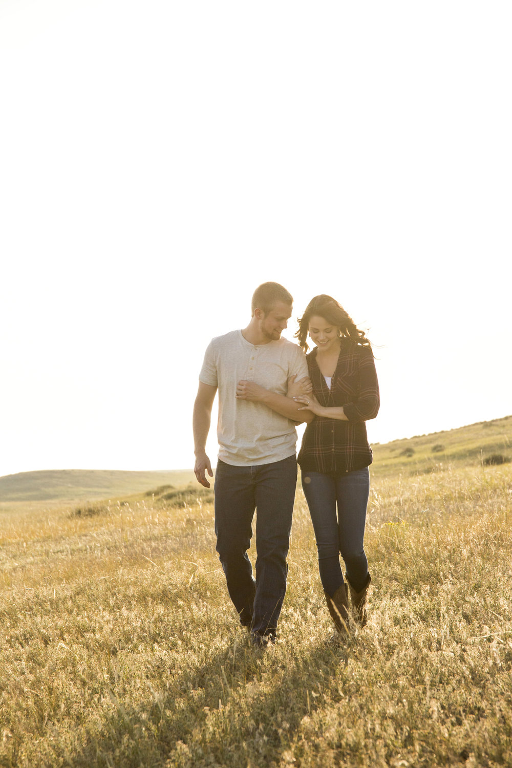 pasture engagement photo