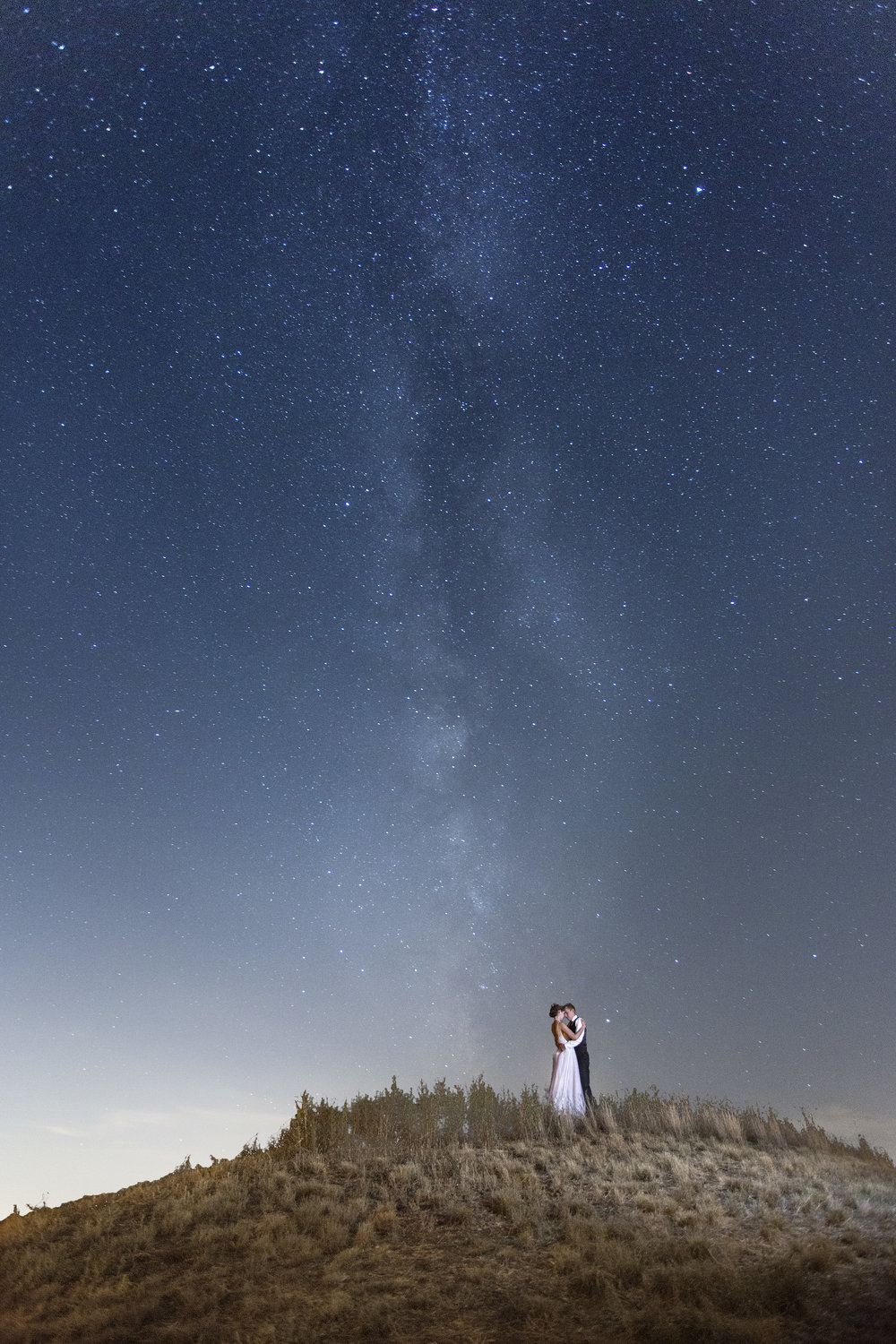 Night Wedding Portrait
