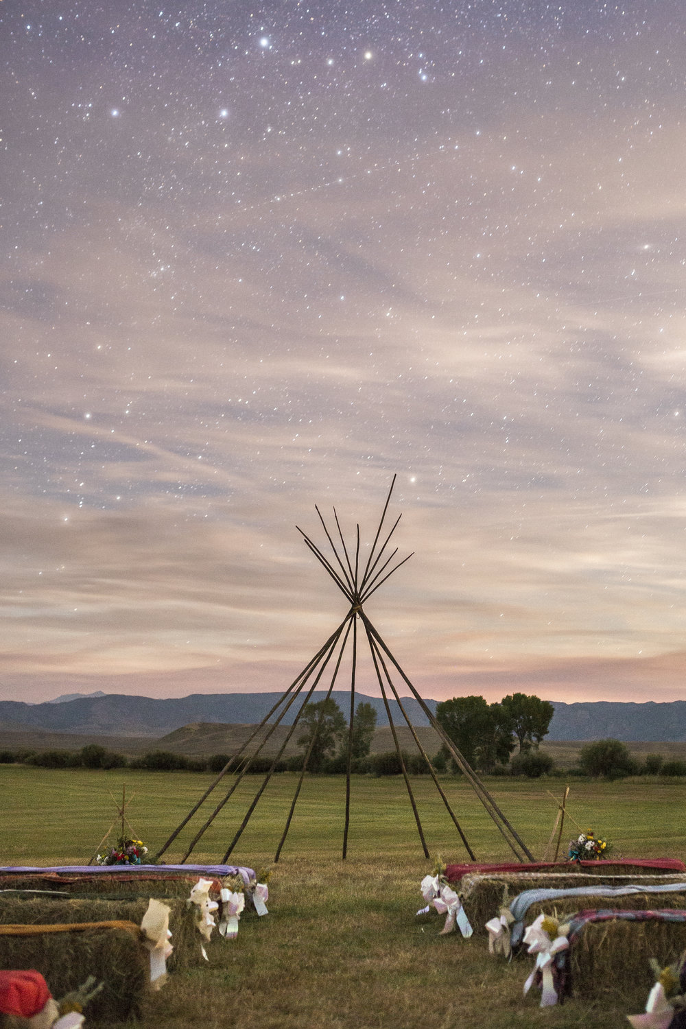 Starscape Alter Wyoming Wedding Teepee