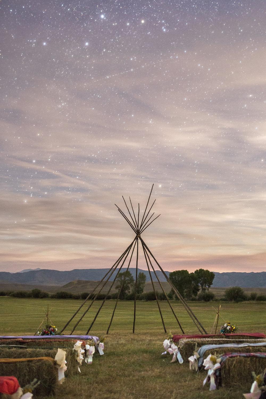 Starscape Alter Wyoming Wedding Teepee