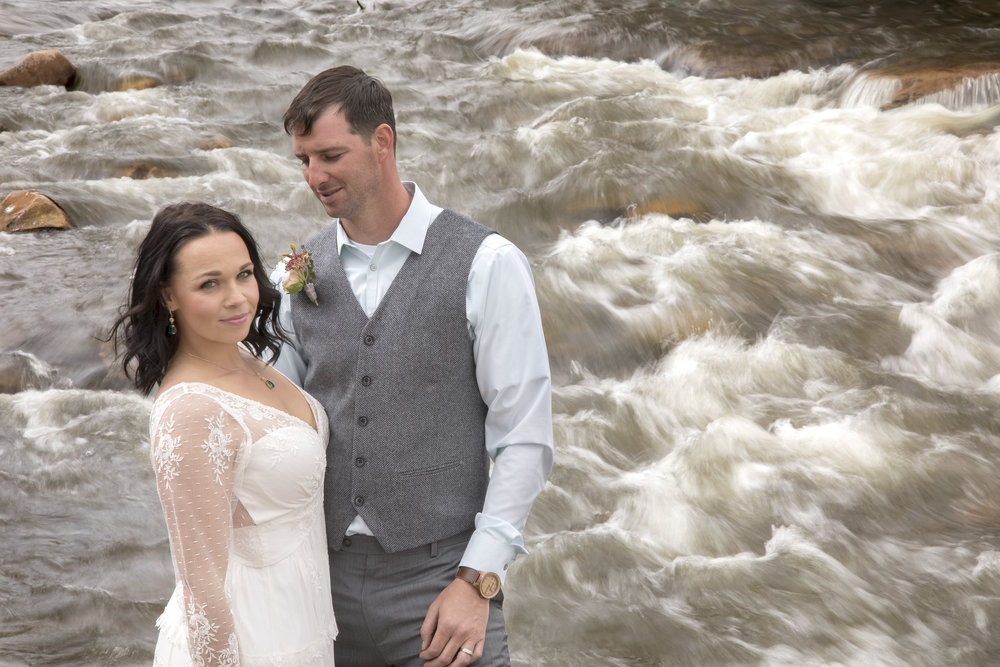 Creek side wedding vee bar