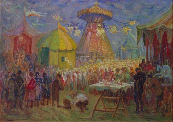 Luna Park. Moshe Rynecki (1881-1943) painted Polish Jewish community in the interwar period, perished at Majdanek.