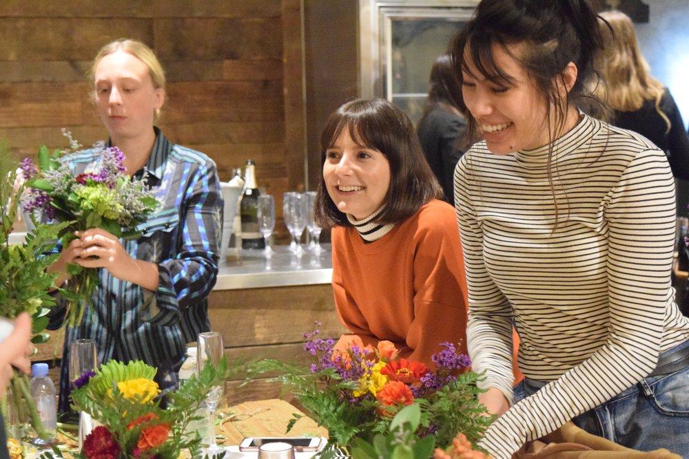 Evening Flower Arranging with Alyssa Coscarelli at Popupflorist