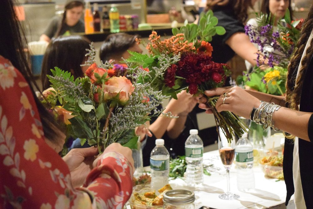 Evening Flower Arranging with Alyssa Coscarelli at Popupflorist