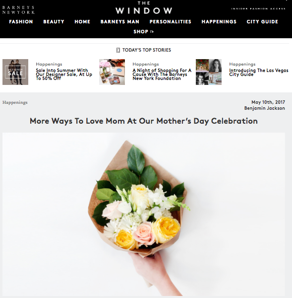 Barneys The Window Popupflorist Mother's Day