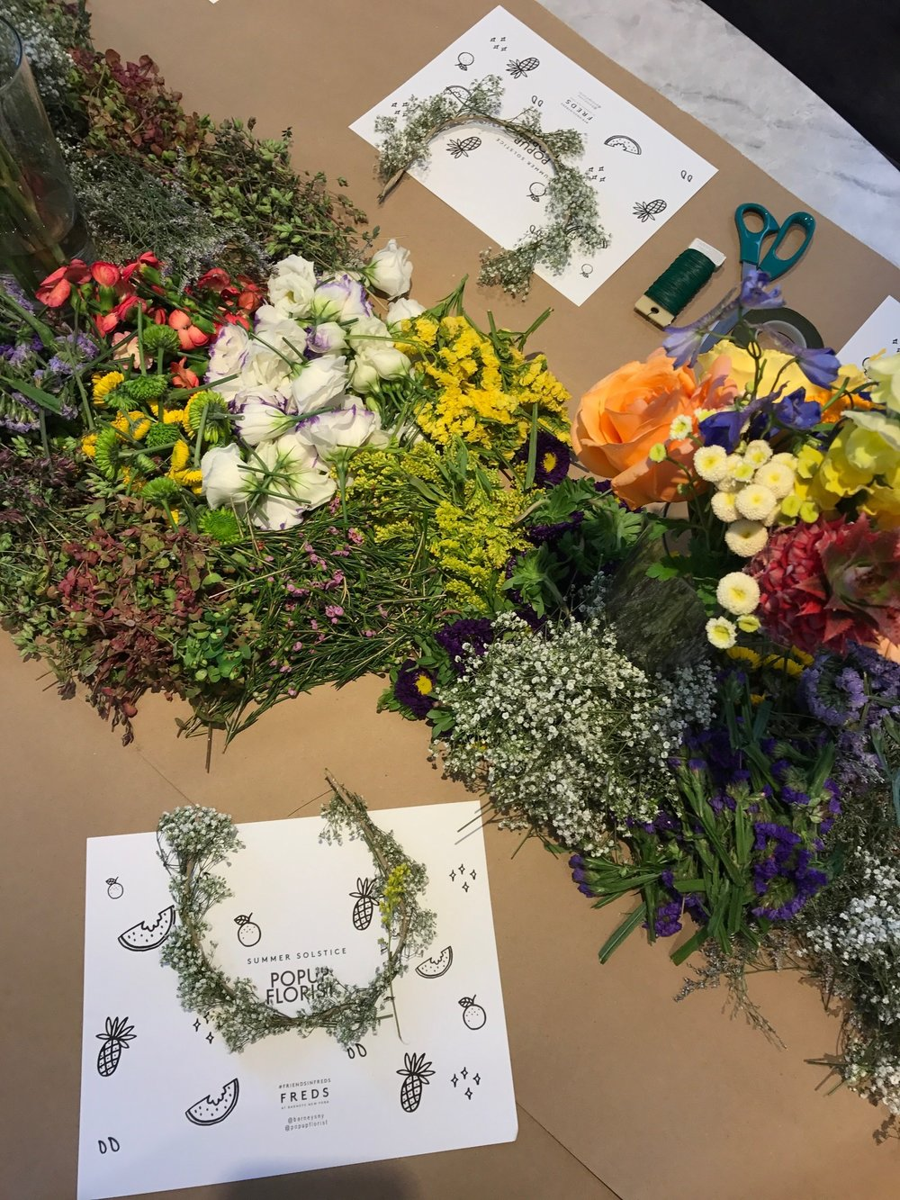 Barneys NY x The POPUP FLORIST Summer Solstice Breakfast at Freds