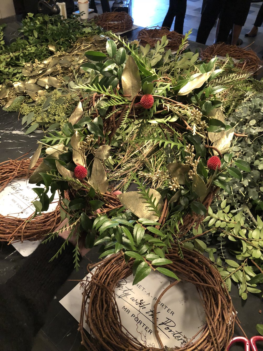 Net-a-porter Holiday Wreath Class
