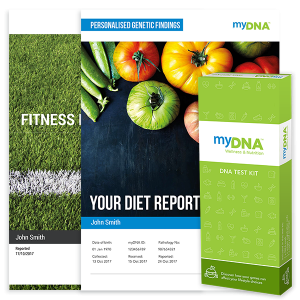 MyDNA Testing  - One simple cheek swap that will determine your correct diet, how you should exercise, how you can avoid fatigue, weight gain and disease.Find Out Which Diet Will Actually Work!No More Guess Work!One Test That Will Give You Your Blueprint To Optimal Health And Fitness!14 Genes tested relating to Weight Loss, Fat Storage, Triglycerides, Cholesterol, Omega 3 to Omega 6 profiles, Muscle Strength, Injury Prevention, Endurance, Flexibility and Recovery!