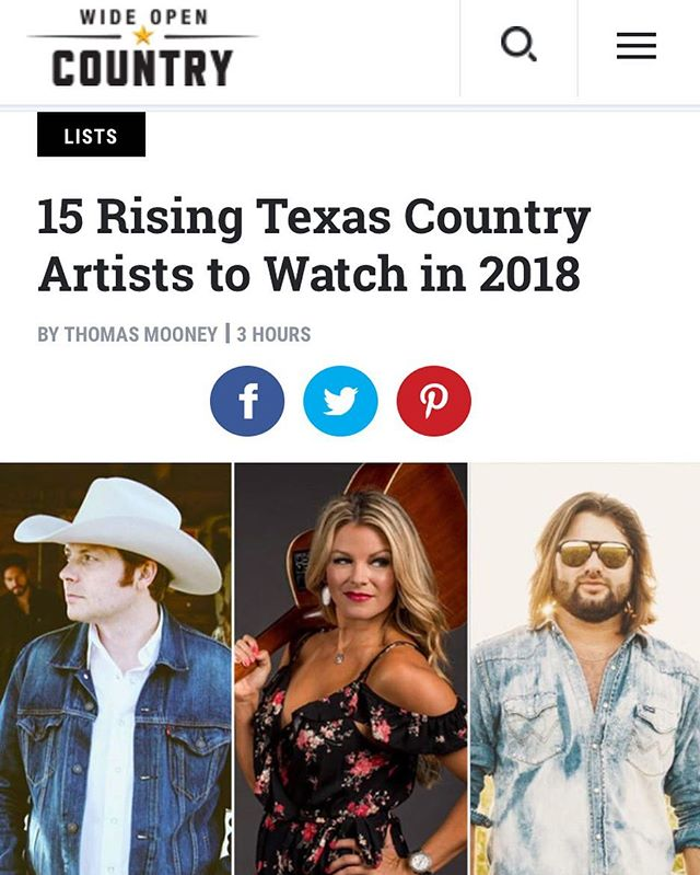 Stoked to be a part of this great list by @wideopencountry! Thanks for the support, y'all. #lovinaintfree #texasmusic