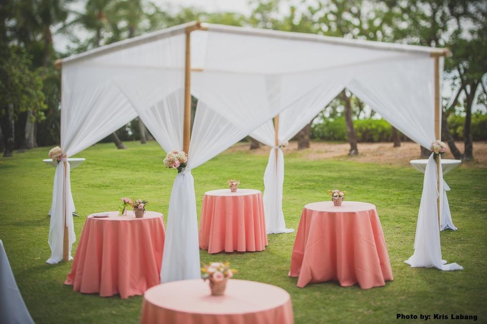 Bamboo Dining Canopies & Fabric u2014 Event Essentials Hawaii