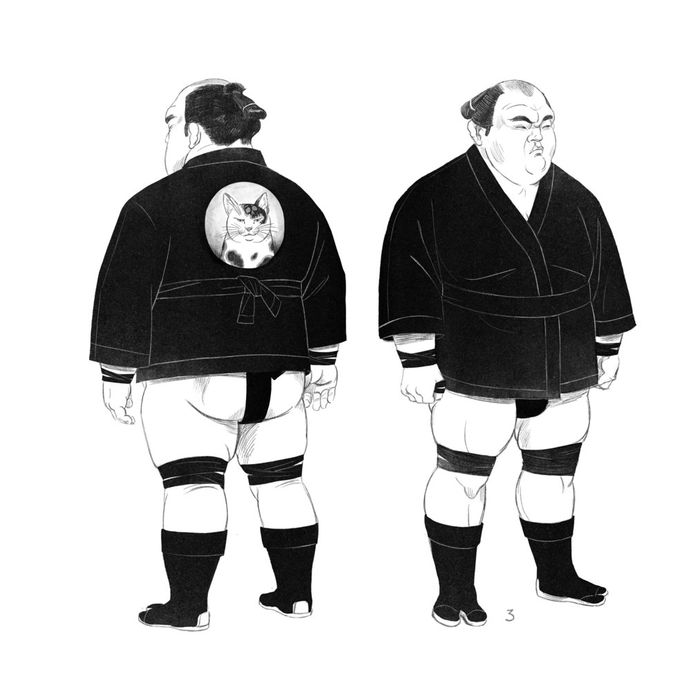 Sumo bodyguards