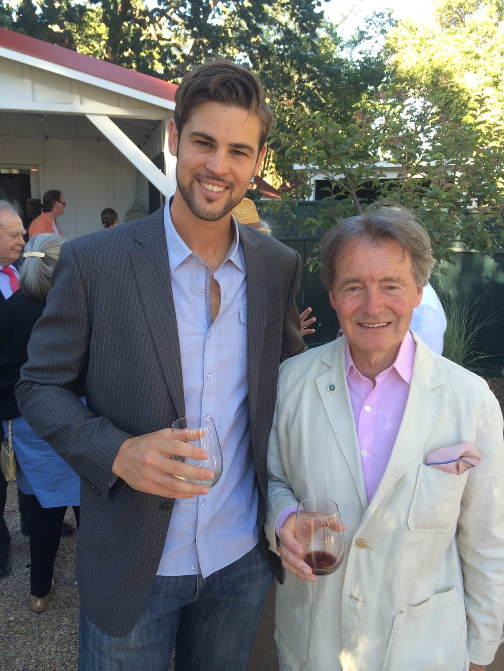 Matt with iconic wine ambassador steven spurrier in los olivos in 2014 (Reference the movie Bottle shock to learn more about Steven's contribution to the world wine industry).