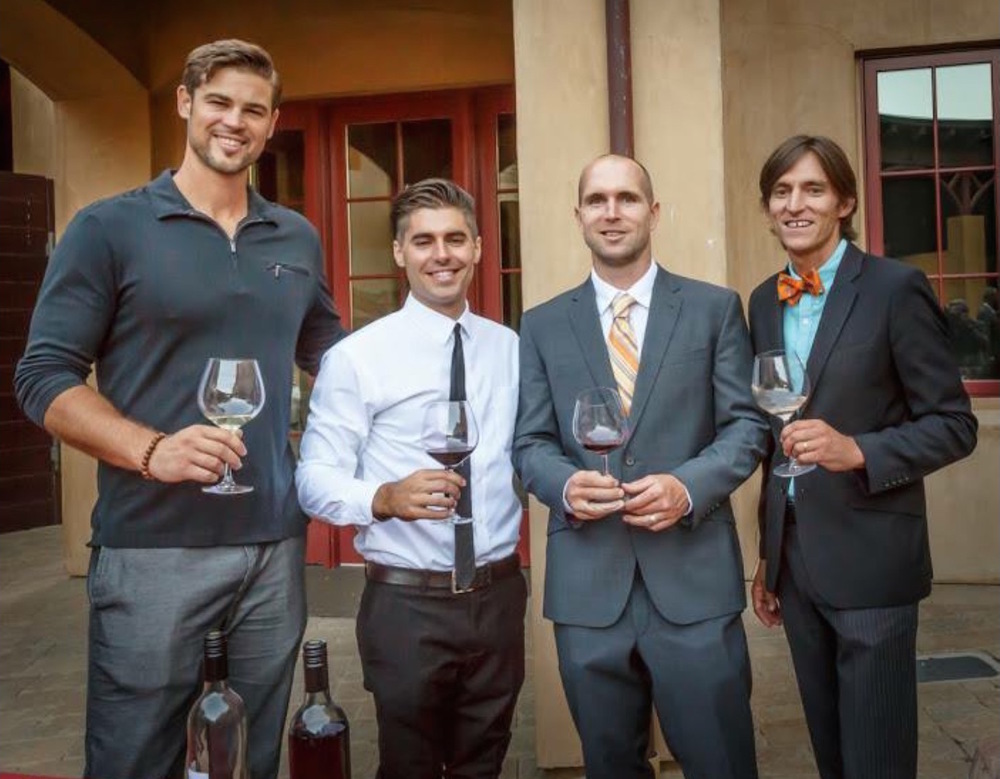 Star Lane Production team 2015: Featured in the Picture above from right to left - Tyler Thomas (Head Winemaker), Jeff Connick (Assistant Winemaker), Robert Daugherty (Second Assistant Winemaker), Matt McKinney - McKinney Family Vineyards Winemaker