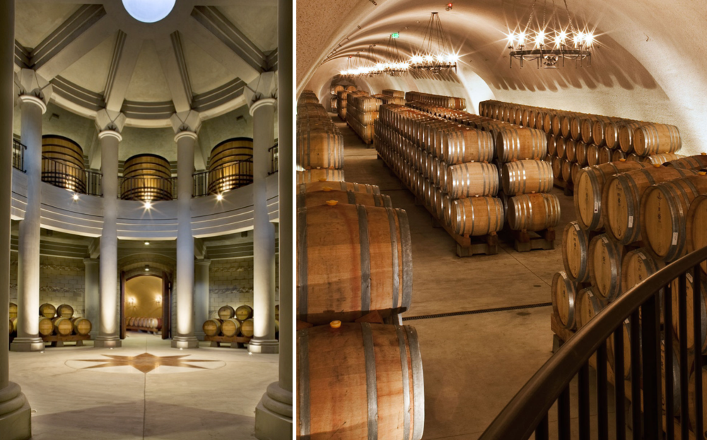 The Winery features half a mile of underground cellars, making it one of the largest cave wineries in the world.