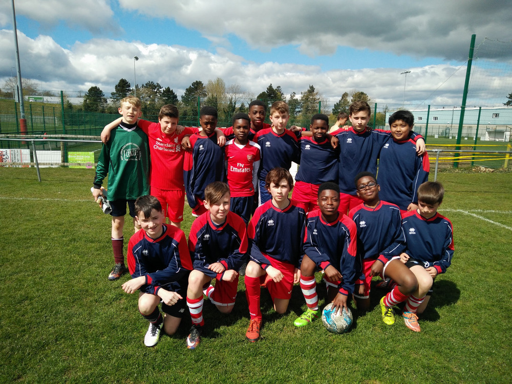 The First Year football team following their excellent 5-2 victory over Celbridge on Wednesday.