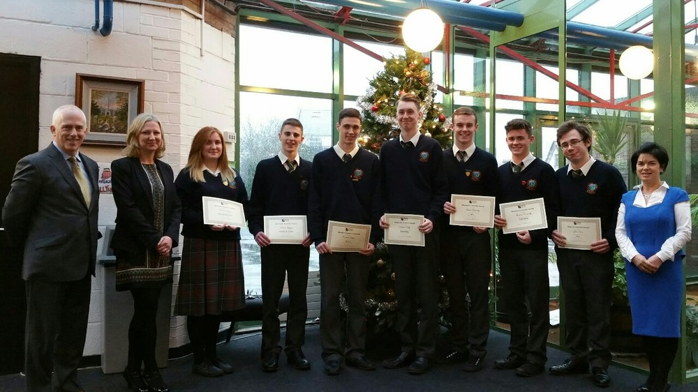 Sheila Purcell from Maynooth University presented prizes to 6th year students who achieved highly in the areas of Arts, Science and Engineering.