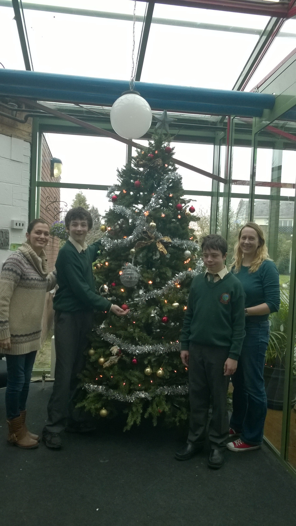 Christmas tree 2015 is now up. Well done to Luke and Adam.