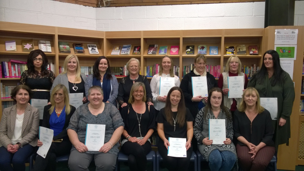 Congratulations to the Adult Education Childcare class who graduated this evening. A lot of serious work went into qualifying with the QQI Level 6 Award.