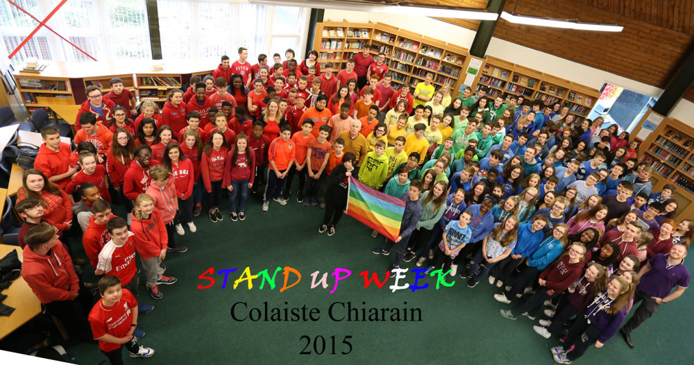 "We held an non uniform day day in support of ""Stand Up Week"" as shown my the photo below. based on a colours theme. We had a remarkable response from aour student body"