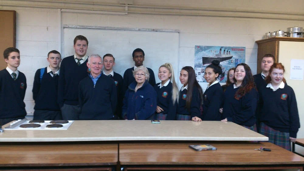 Representatives from the Leixlip branch of St. Vincent de Paul who kindly came to talk to 6th Year students about their work today.