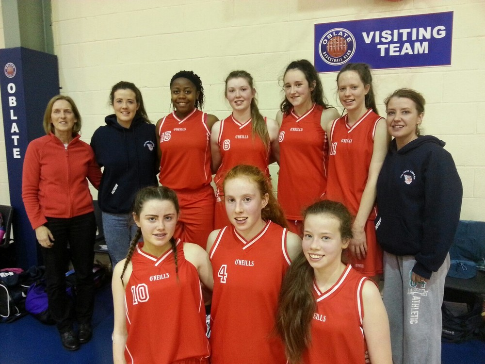 The U-16 Girls Basketball Team won their All Ireland Semi Final today. They defeated Ard Scoil Rathangan 50-48. The opposition was excellent but the girls kept their cool to control the game enough to emerge victorious. Where as there were some great individual displays of skill,  the win is a result of collective hard work and determination.
