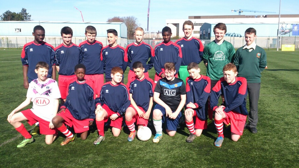 Band of Brothers    The second year boys' soccer team who were narrowly defeated today,11th March, by a very strong Ashbourne C.C. side. Despite the loss there were some fine individual performances all round the pitch with Jack Noonan scooping the man of the match award for Colaiste Chiarain.