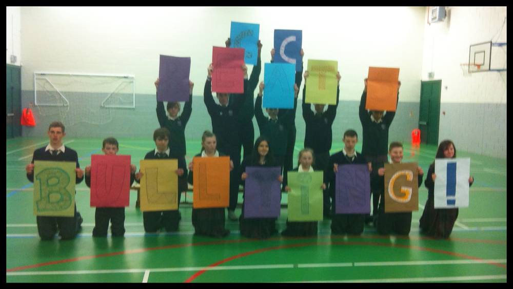 Students during filming for the TY YSI AntiBullying film.