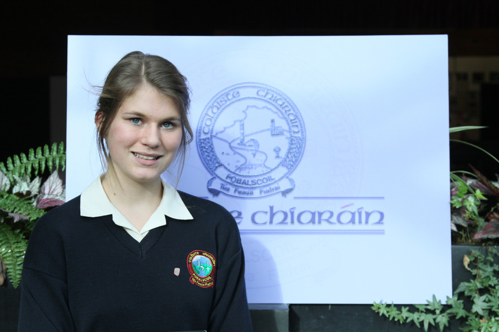 National recognition Eliana Jupe has been selected as a finalist in the 2012 Pramerica Spirit of Community Awards. In doing so she is one of 20 finalists. The Board of Management and Staff of Coláiste Chiaráin are very proud of Eliana's achievement. Eliana was part of a student and staff group who travelled to Zambia last summer. While there they worked in the community of Kalomo. The students taught computers and knitting to local adults and young people. They were also involved in the building of a piggery and participated in the home visit programme. Eliana was fully committed to the project and felt so strongly about her experience that she has continued working on the project since her return. Another senior student of Coláiste Chiaráin, Shane McCormack, has been recognised for his work in Zambia. He is the recipient of the Pramerica Award of Merit.