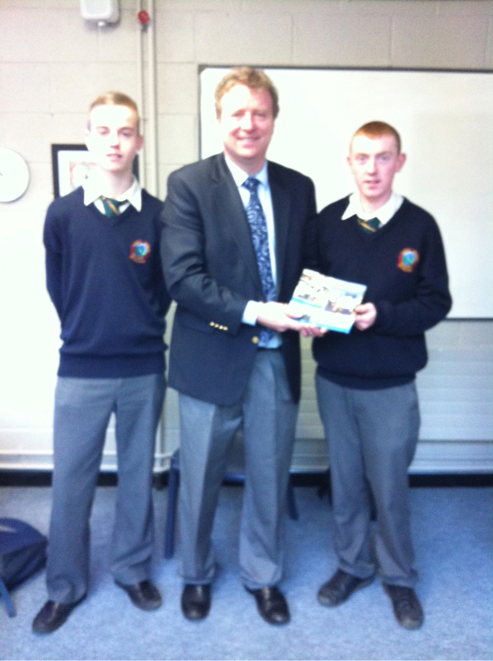 Denis Leonard from Dunboyne College of Further Education gave a presentation to sixth year students this morning.
