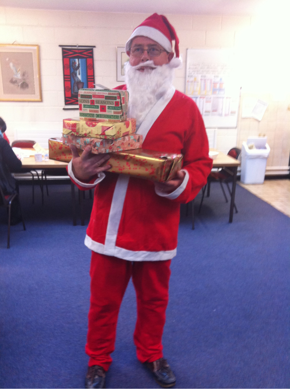 Santa arrived early in Colaiste Chiarain!!