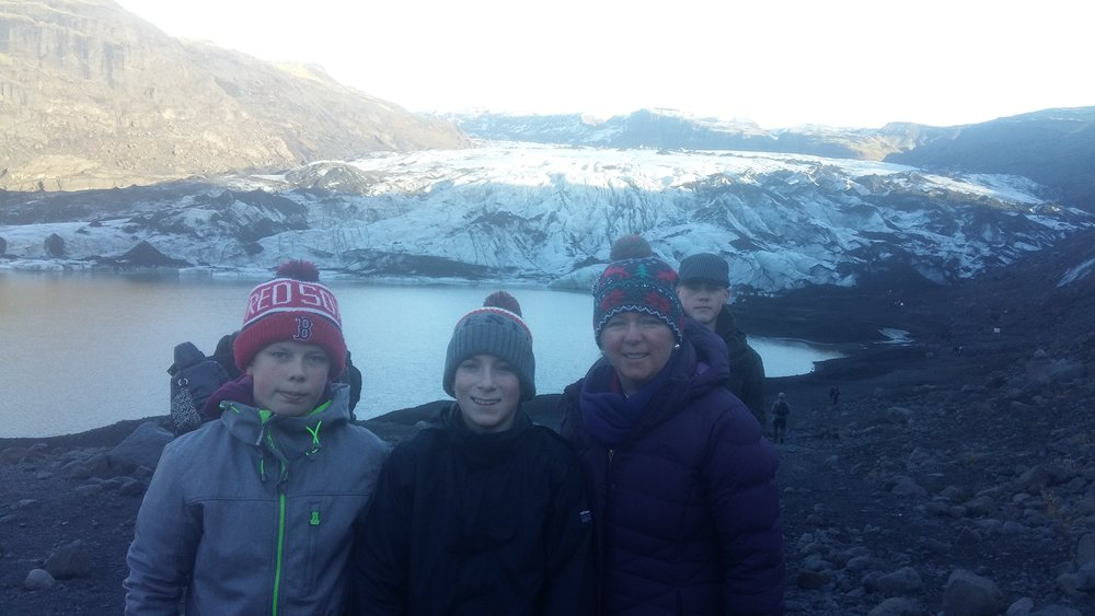 At the glacier.