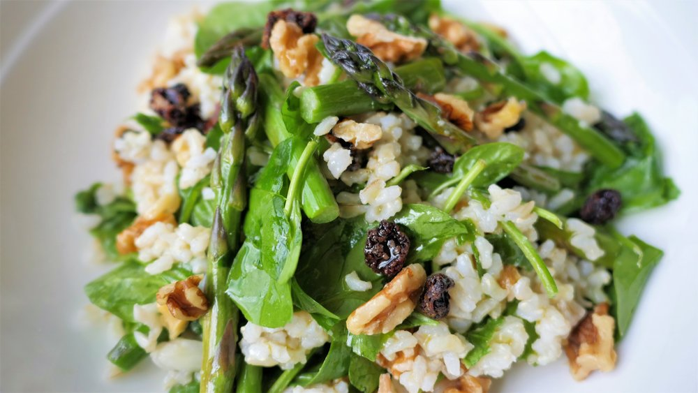 Brown rice salad with asparagus and walnuts - natalie brady!.jpg
