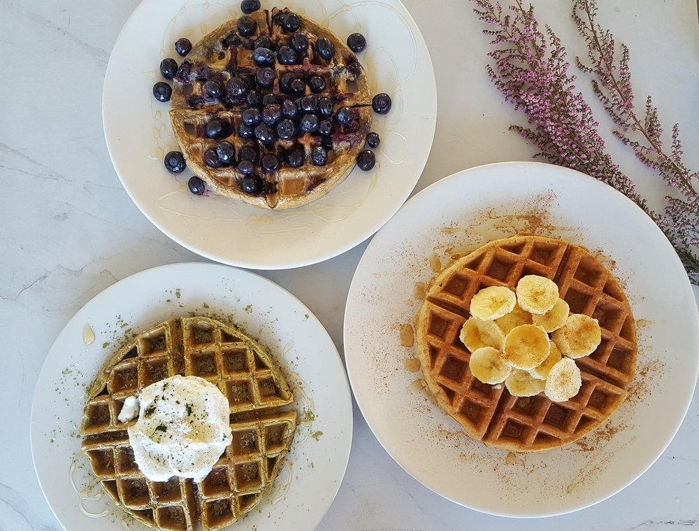 Healthy Waffles 3 Ways