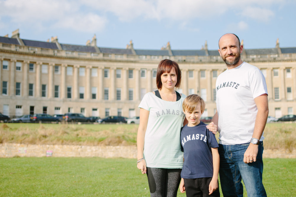 YOGADOO founder, Lucy Aston with husband Tim and son Freddie